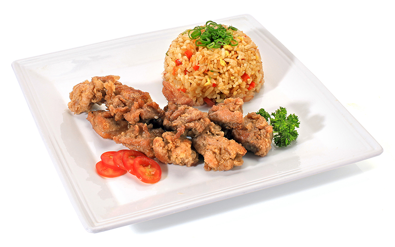 "/<br><font style=""color:#00974a;""><b>Karage con Yakimeshi</b></font>"