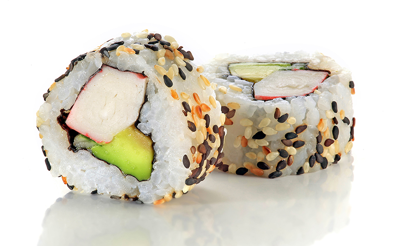 "/<br><font style=""color:#00974a;""><b>California Roll</b></font>"