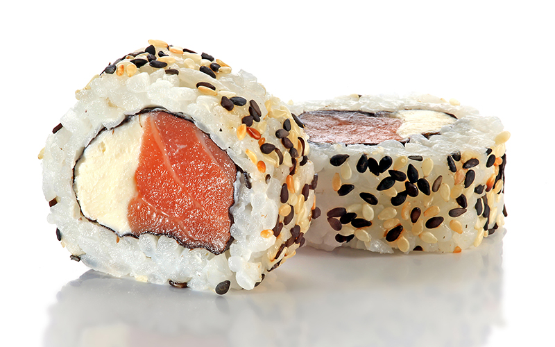 "/<br><font style=""color:#00974a;""><b>Philadelphia Roll</b></font>"