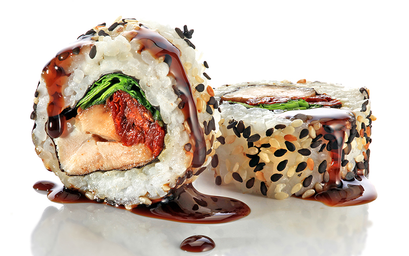 "/<br><font style=""color:#00974a;""><b>Teriyaki Chicken Roll</b></font>"