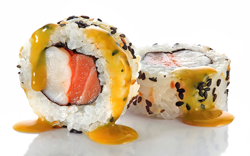 "/<br><font style=""color:#00974a;""><b>Sake Ebi Passion Roll</b></font>"
