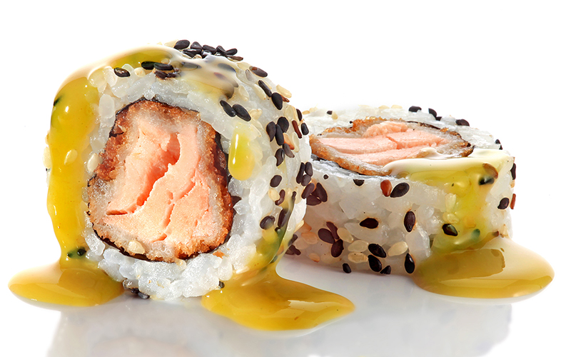 "/<br><font style=""color:#00974a;""><b>Sake Furai Roll</b></font>"